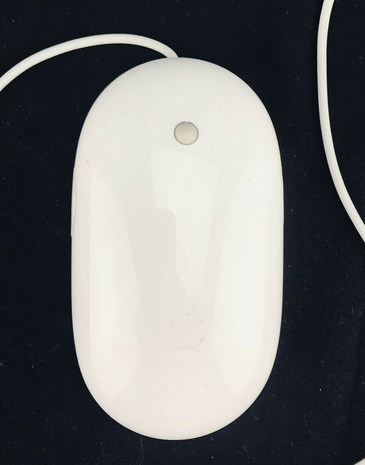"Apple A1152 USB Vintage White Optical ""Mighty Mouse"" Genuine Tested EMC 2058"