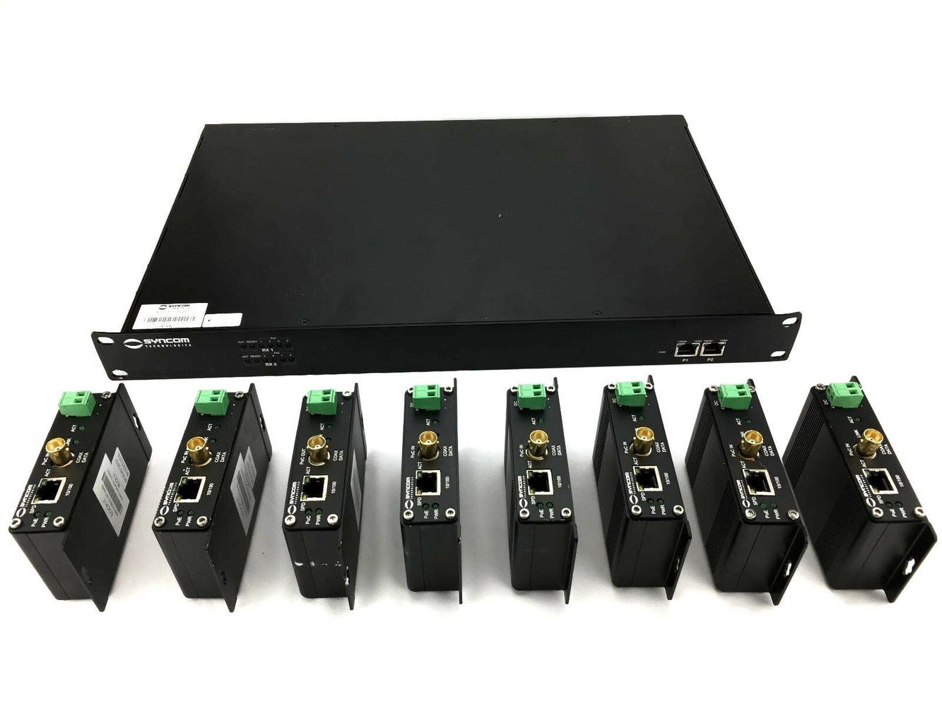 Upgrade Analog Security Cameras To IP Conversion Kit Ethernet Over Coax Plus POE