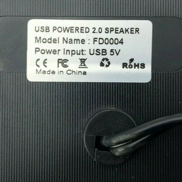 Portable USB Powered 2.0 Speaker FD0004 Power Input: USB 5v Fast Shipping
