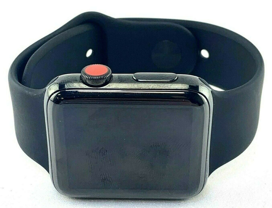 Apple Watch Series 3 42mm Stainless Steel Space Black LTE GRADE A- Physical READ