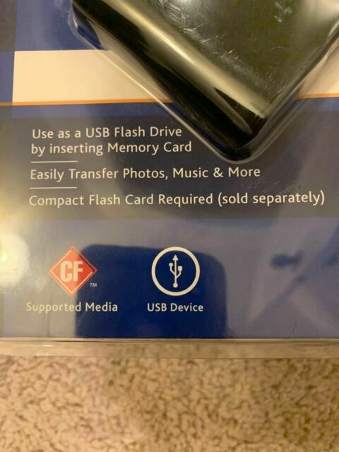 Ativa Compact Flash Memory Card USB Drive Easily Transfer Data 755-130