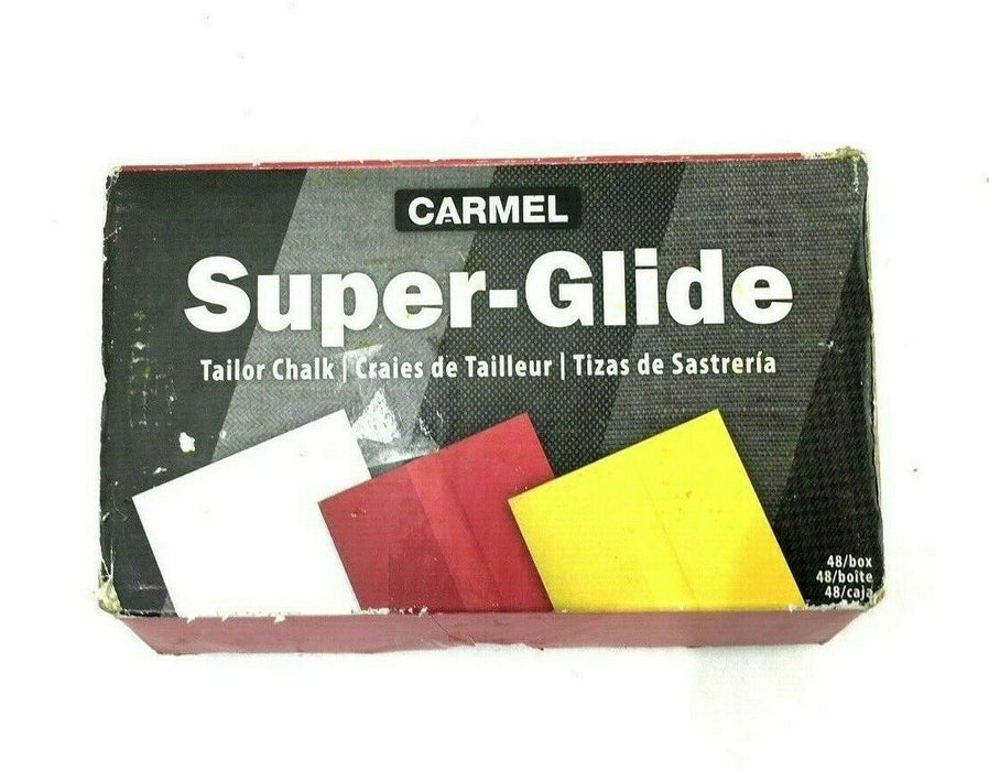 Carmel Super-Glide Tailors' Chalk Yellow Color, 48 pcs Fast US Shipping