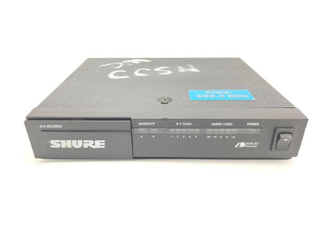 Shure SC4-CT Marcad Diversity Wireless Receiver 206.0 MHz