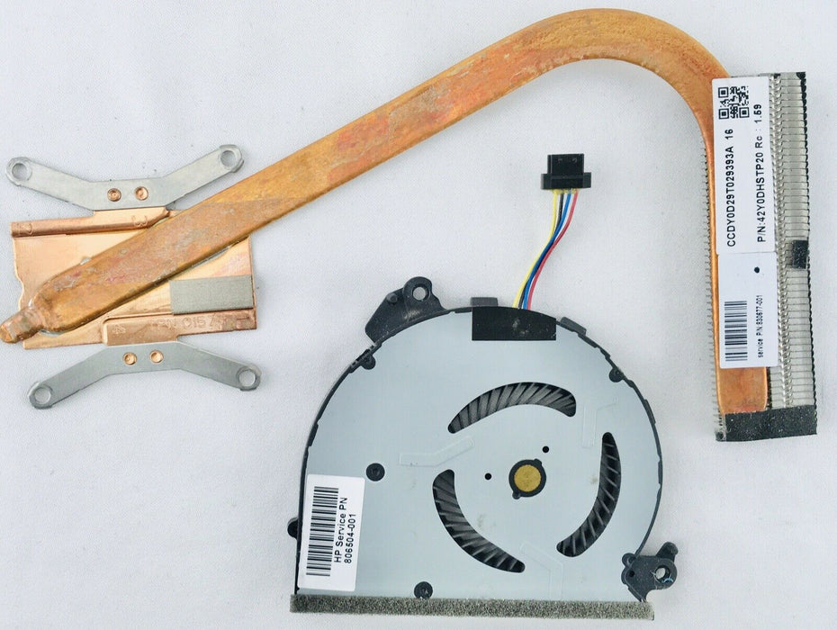 "HP Spectre X360 13-4000 13.3"" Cooling Fan W/ Heatsink 806504-001 806506-001"