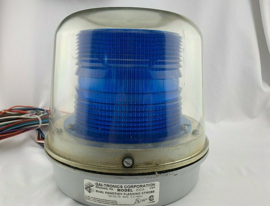 GAI-Tronics 530A Emergency LED Flashing Strobe Light Blue Emergency Telephones