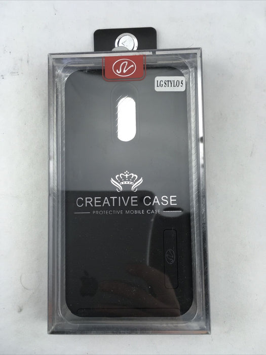 Black LG Stylo 5 Creative Case with Kickstand Phone Case