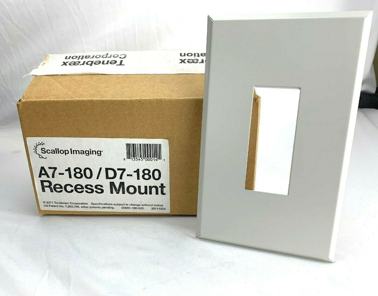 Scallop Imaging Recessed Mount for A7-180/D7-180 Security Cameras DW01-100-003