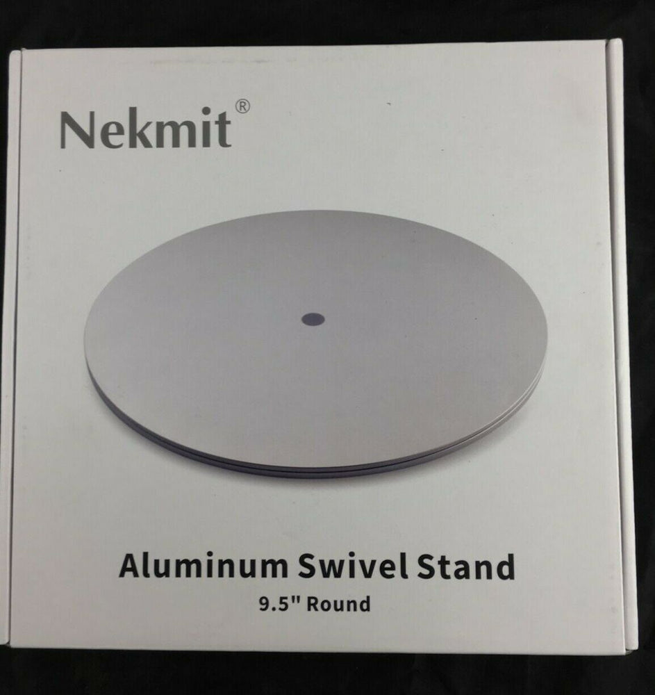 Nekmit Aluminum Heavy Duty 360° Rotation Swivel Steel Ball Bearings Stand Silver