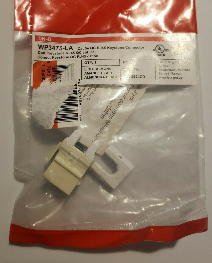 LEGRAND WP3475-LA CAT5e QC RJ45 Keystone Connector 2 pack