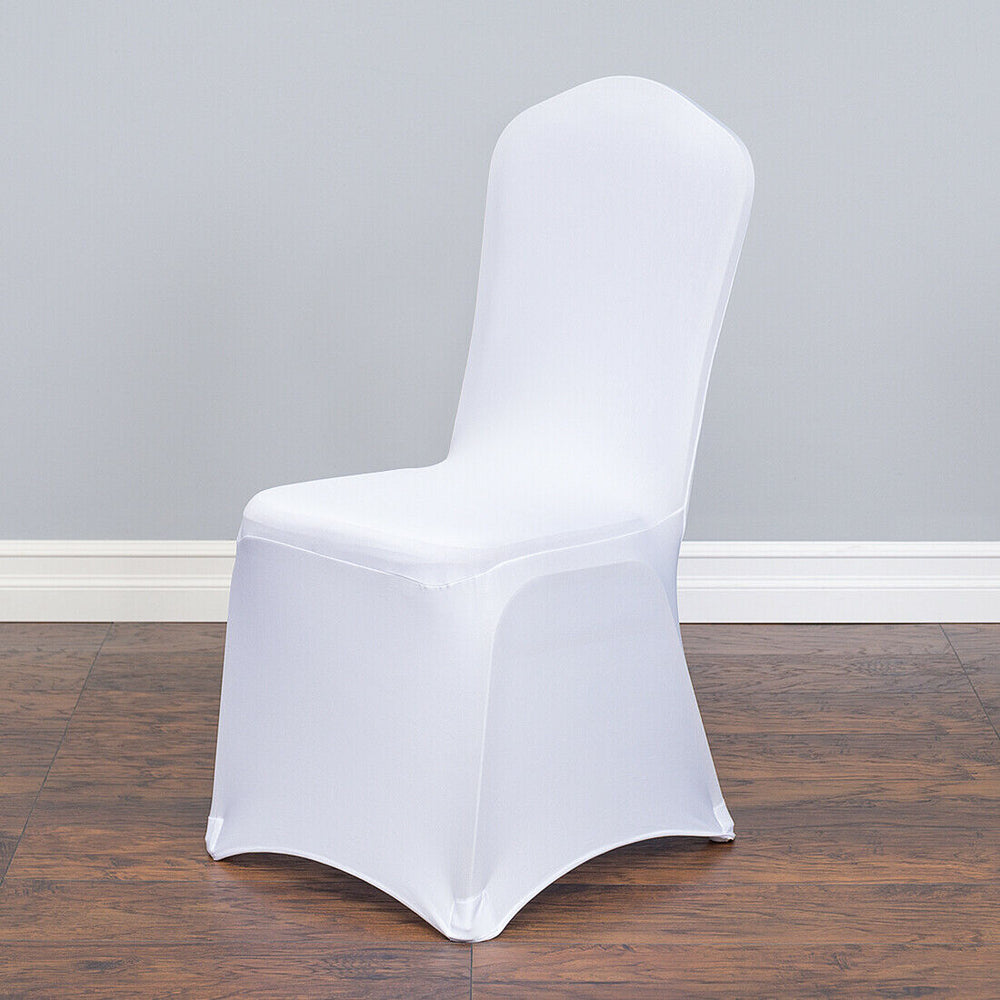 10x Lot White Stretch Folding Chair Covers For Special Events Weddings New Bulk