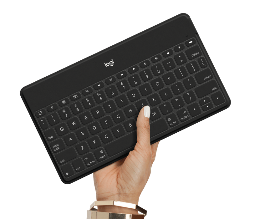 Logitech Keys-To-Go Keyboard for Apple w/ iPhone Stand Bluetooth Wireless Black