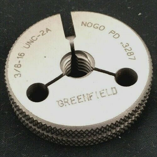 Greenfield Industries 55325419 3/8-16 Go/No Go Double Ring Thread Gage UNC-2A