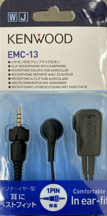 Kenwood EMC-13W In-Line Push-to-Talk Clip Microphone Earphone for NX-P500  Radio