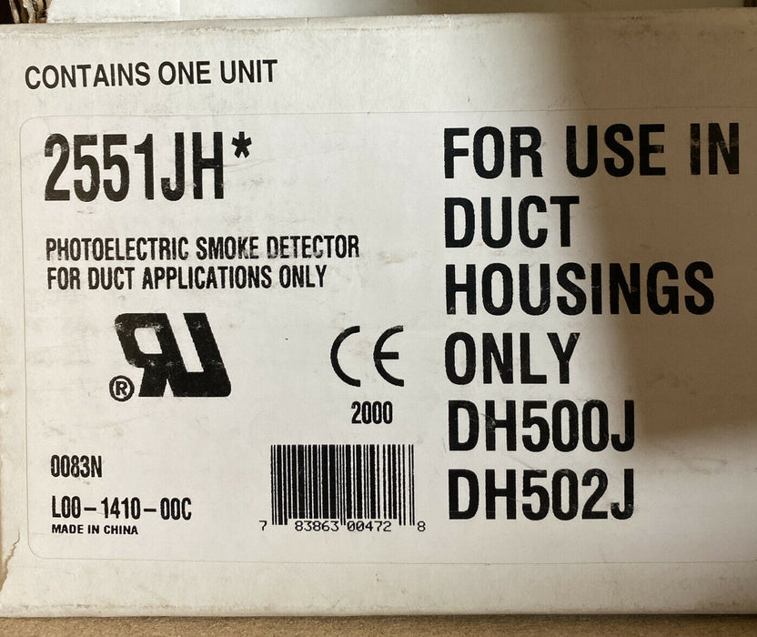 Johnson Controls Fire Alarm Photoelectronic Smoke Detector AIRDUCT DH502J 2551JH