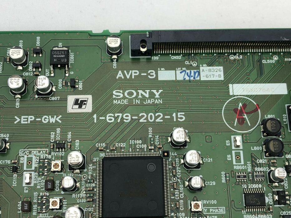 Sony 1-679-202-15 DSR-1500AP AVP-3 Analog Video and Audio Board