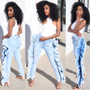 Extra, Extra! Ruffle Jeans (PRE-ORDER SHIPS  5/20)