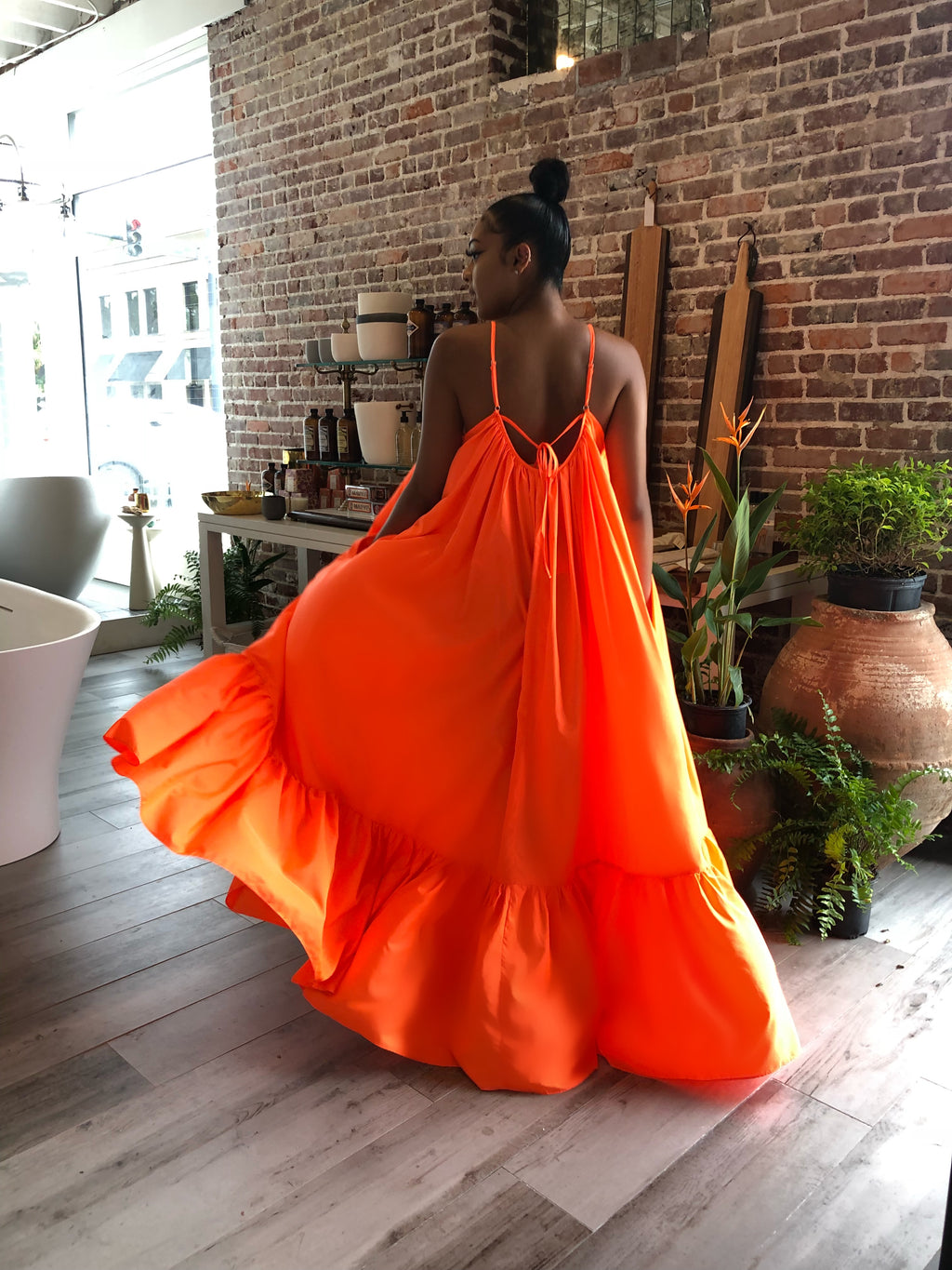 Ghana Dreaming Maxi (Neon Orange)