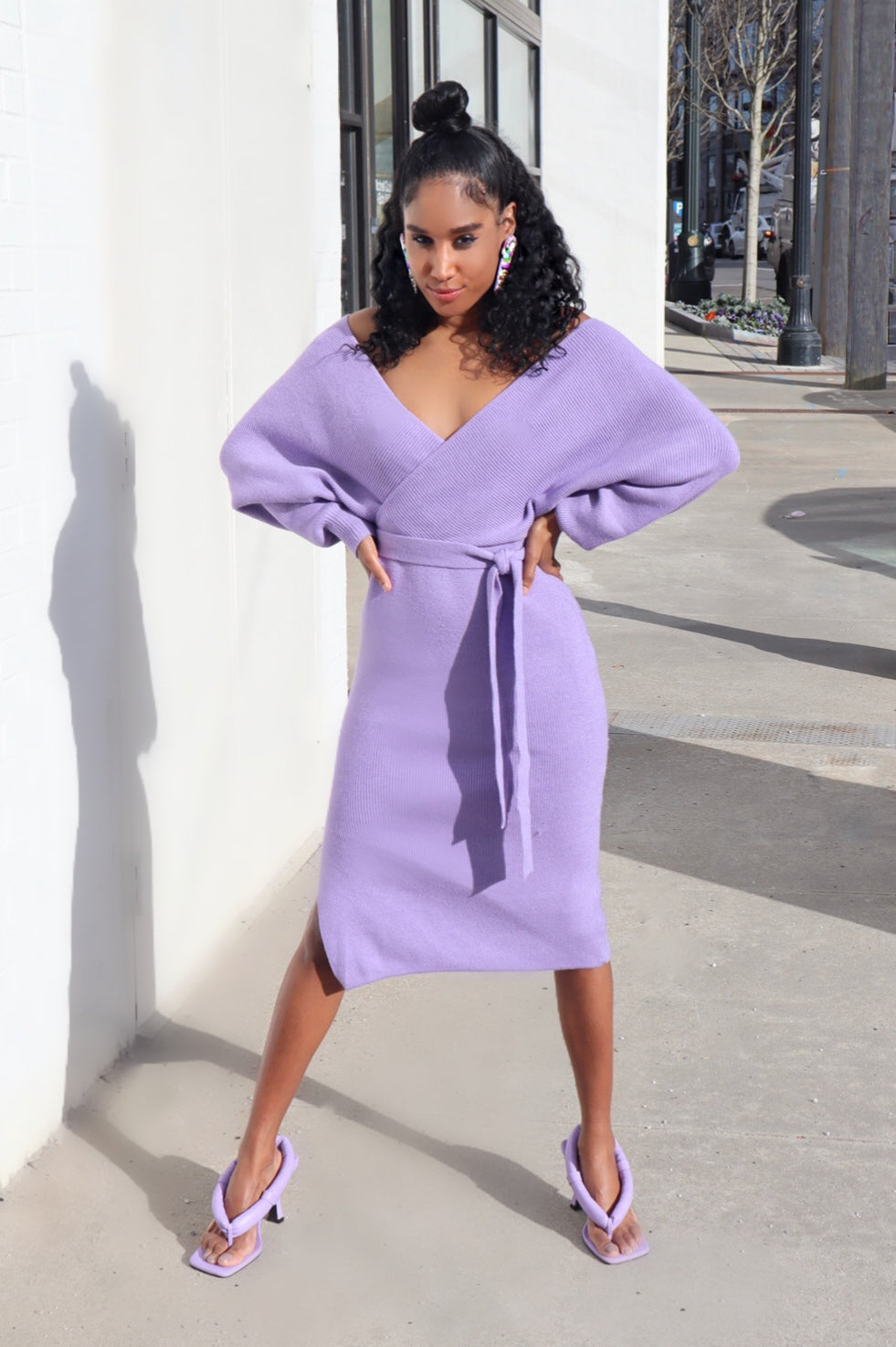 Date Night Special Midi Dress (Lavender)