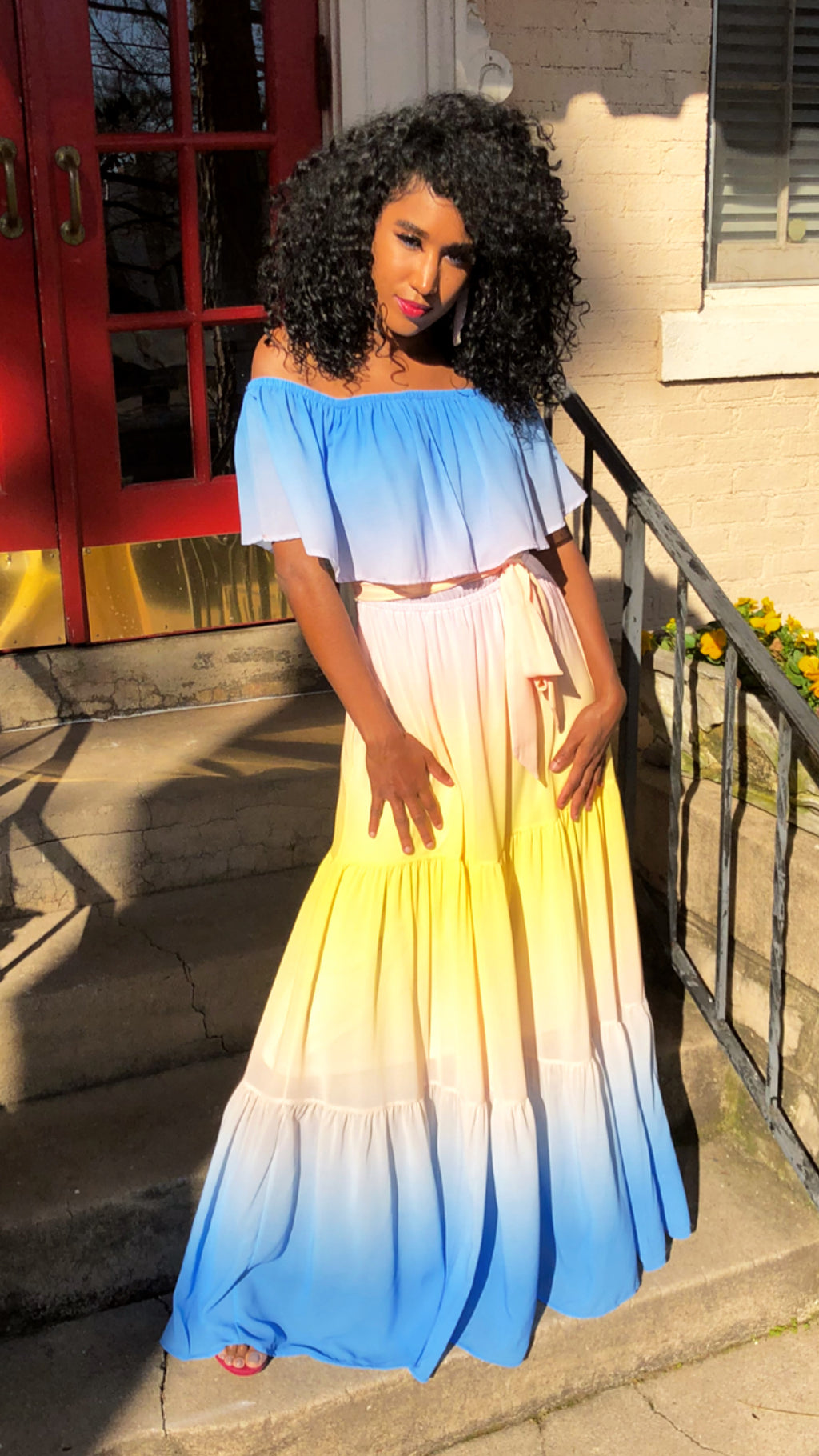 Hues of Sunset Maxi Dress