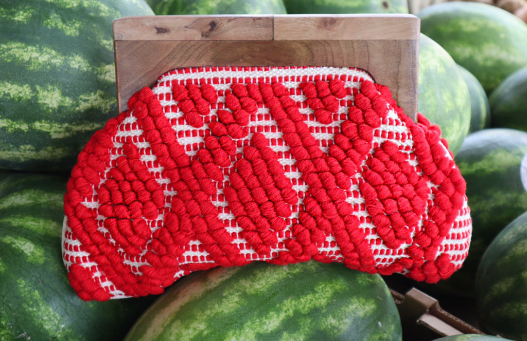 Red Braided Clutch