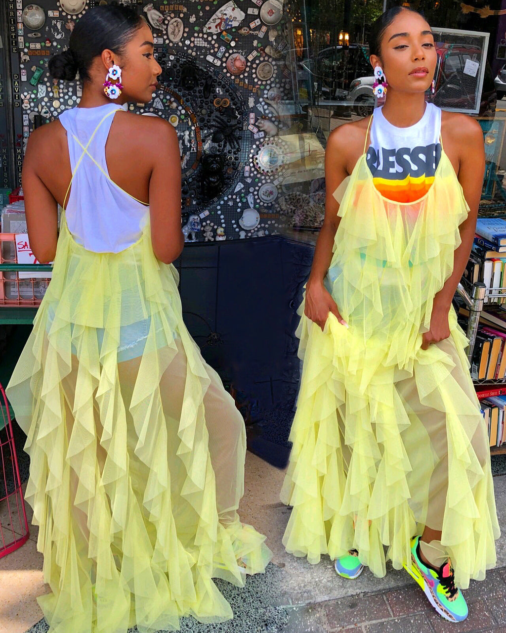 Frilly Street Dreams Dress (YELLOW)