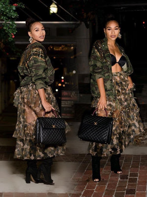 Camo Tiered Mesh Skirt (SALE)