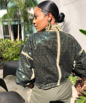 Military Salute Sequin Jacket