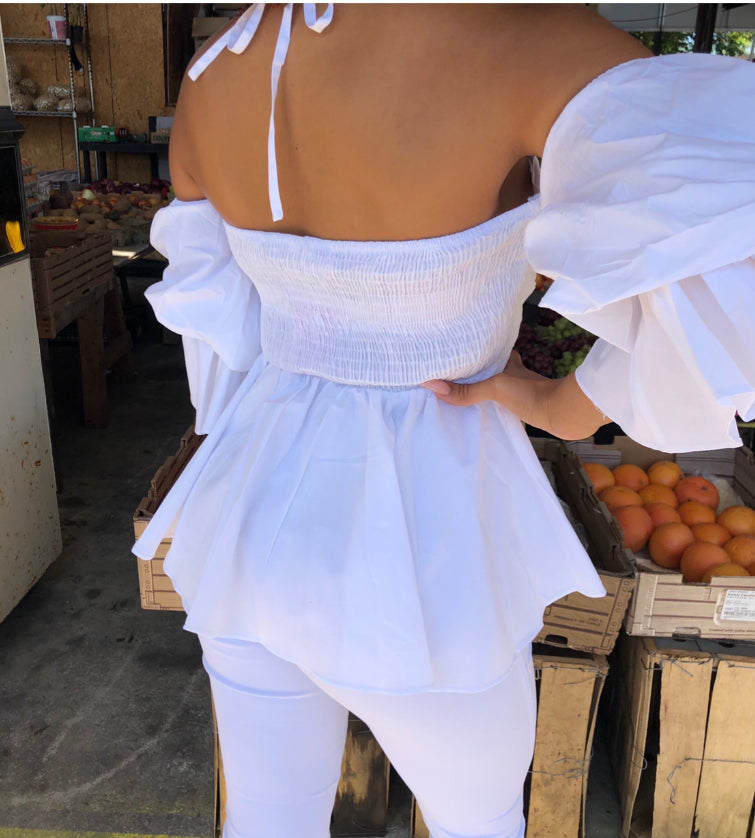 This Top is Calling Your Name (White)