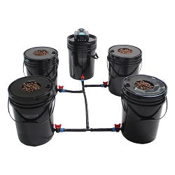 Grow1 Deep Water Culture (DWC) 4 Bucket + Reservoir Complete Kit For Sale Online