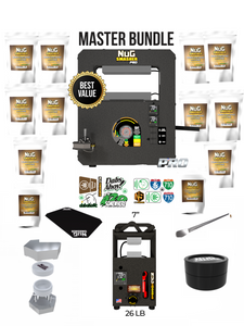 NugSmasher Pro 20 Ton Manual Rosin Press Master Combo Bundle Deal