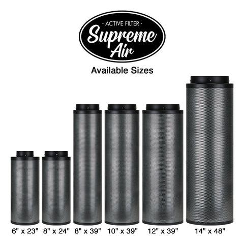 "SupremeAir Australian Carbon Filter 10"" x 39"" 1400CFM For Sale Online"