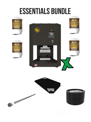 The NugSmasher X 3 Ton Rosin Press Essentials Bundle Package Deal