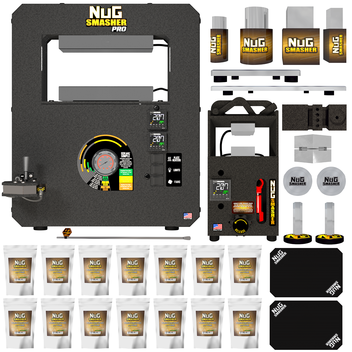 NugSmasher Pro 20 Ton Rosin Press Master Combo Bundle Deal
