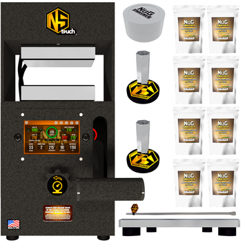 NugSmasher Touch 12 Ton Manual Rosin Press Basic Bundle Deal