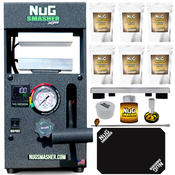 NugSmasher XP 12 Ton Rosin Press Essentials Combo Bundle Deal