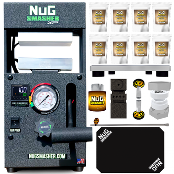 NugSmasher XP 12 Ton Rosin Press Master Combo Bundle Deal