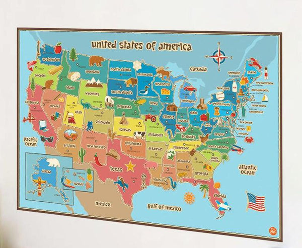 Home goods wilder kids co where the buffalo roam removable vinyl usa map gumiabroncs Images