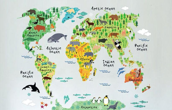 Home goods wilder kids co its a wild world map wall decal gumiabroncs Images