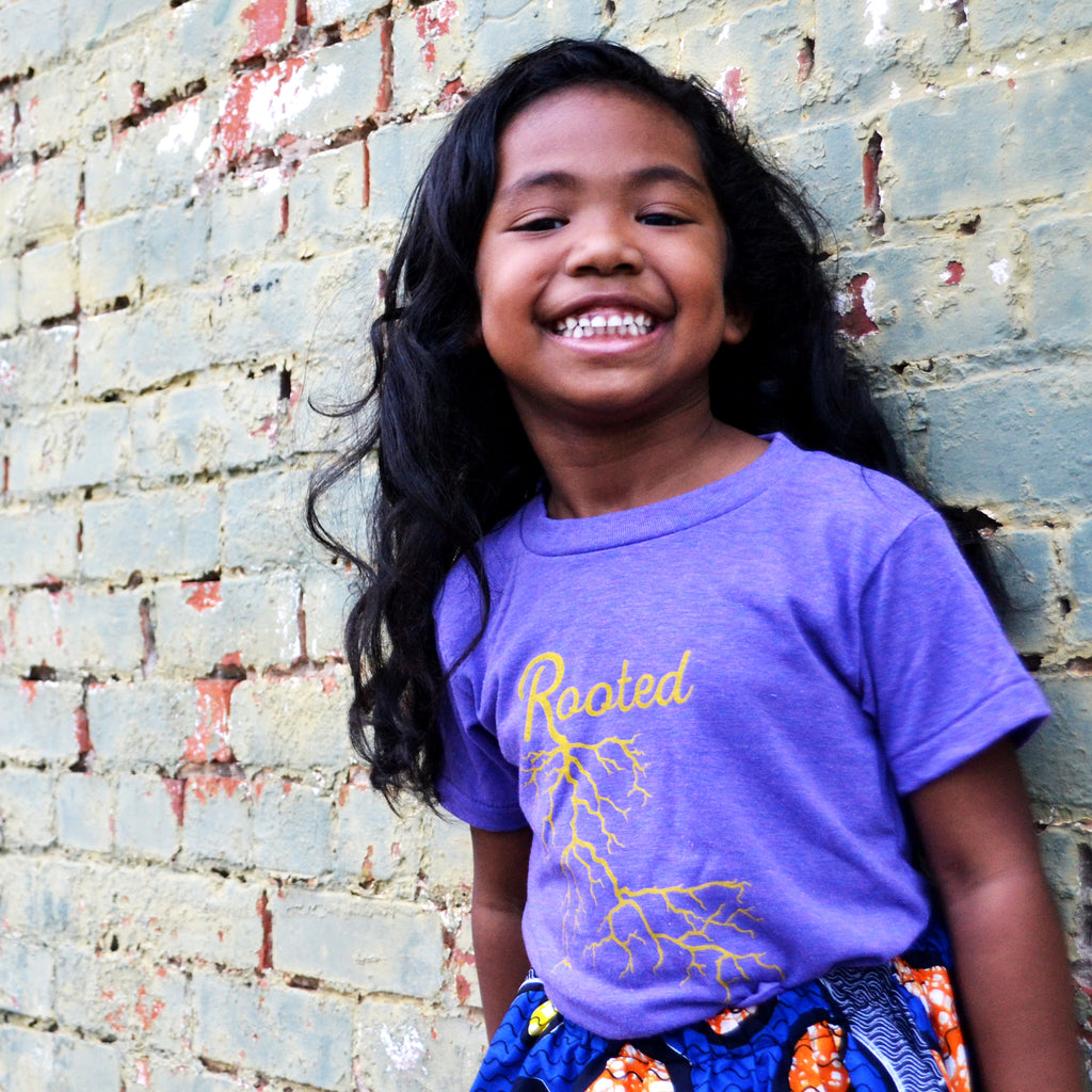 The Purple + Gold Rooted Shirt