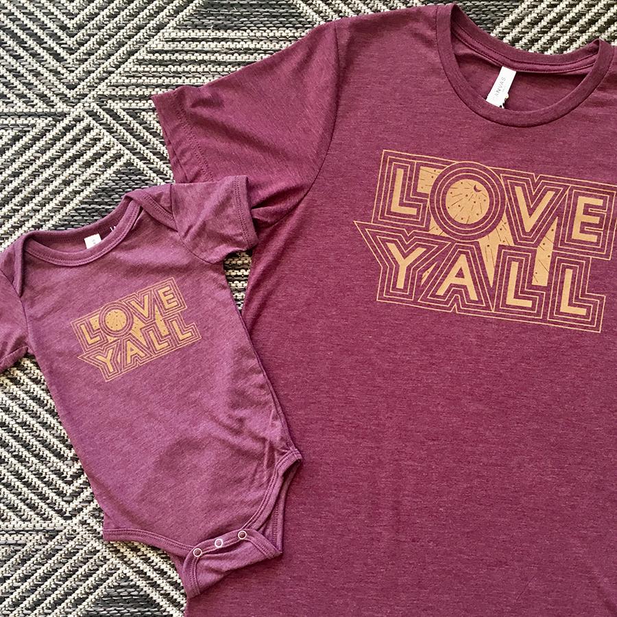 The Maroon Love Y'all Onesie