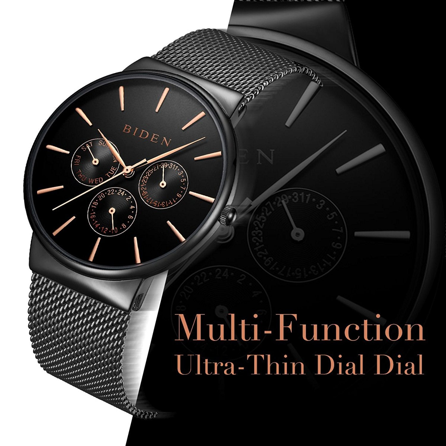luxury business men brand fedylon stainless watch watches classic top quartz steel mens simple pin wrist
