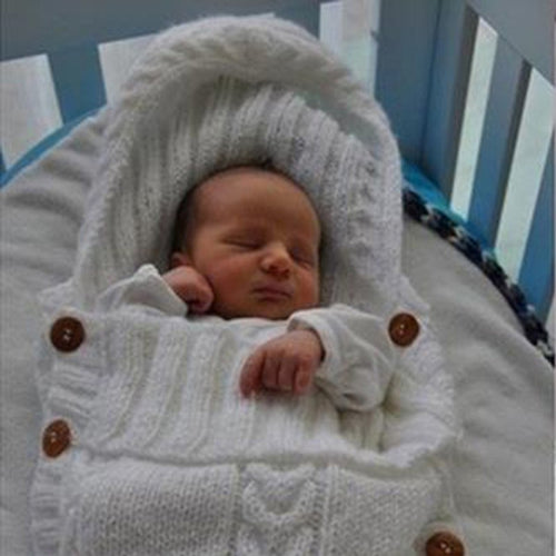 Warm Knitted Swaddle Sleeping Bag for Babies - About Your Gift