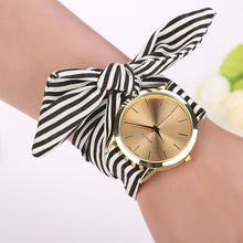 Stripe Floral Clock Bracelet - About Your Gift