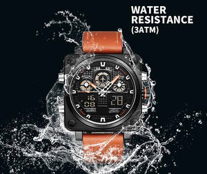 Multifunction Sport Leather Chronograph - About Your Gift