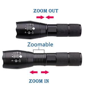 2000 Lumen Tactical Flashlight (Water and Shock Resistant) - About Your Gift