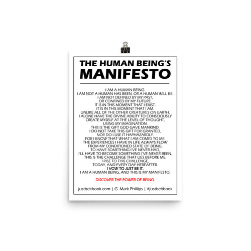 The Human Being's Manifesto Poster