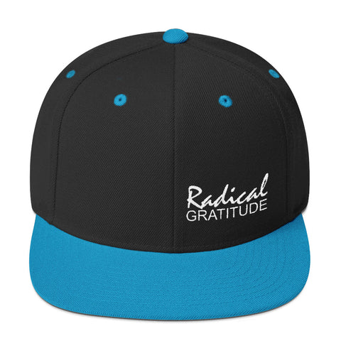 Radical Gratitude Small White Graphic Snapback Hat
