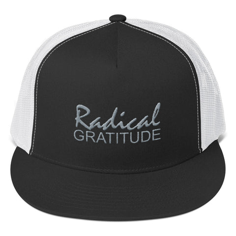 Radical Gratitude Grey Graphic Trucker Cap