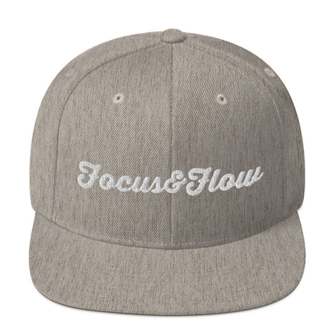 Focus & Flow Signature White Graphic Snapback Hat
