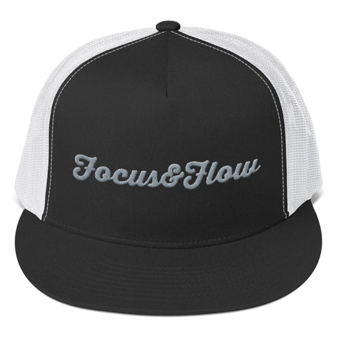 Focus & Flow Signature Gray Graphic Trucker Cap